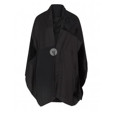 Mantel mit überschnittenen Schultern
