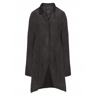 Materialmix-Jacke im Washed-Out-Look