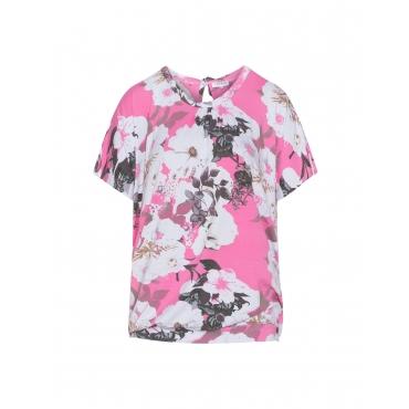 O-Linien-Shirt mit Blumen-Print