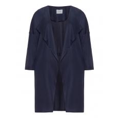 Offene Lyocell-Jacke mit Taschen