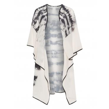 Offener Kimono mit Batikmuster