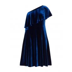 One-Shoulder-Kleid aus Samt