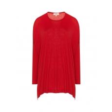 Oversize-Pullover mit gerippten Ärmeln