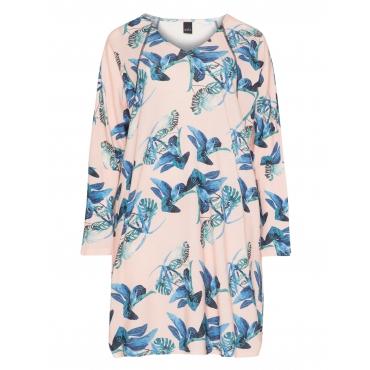Print-Longshirt mit Fledermausärmeln