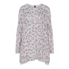 Pullover mit Allover-Leo-Print