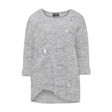 Pullover mit Pailletten und Deko-Steinen