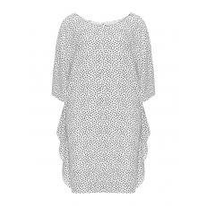 Punkte-Kleid mit Volantdetails