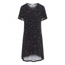 Pyjama-Shirt mit High-Low-Saum