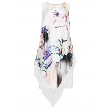 Satin-Kleid mit Blumenmuster
