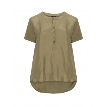 Shirt aus Seiden-Jersey-Mix