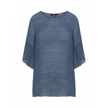 Shirt aus strukturiertem Baumwollmix