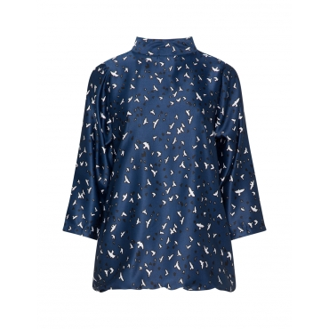 Shirt mit Allover-Birds-Print