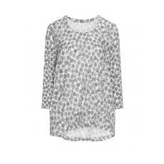 Shirt mit Allover-Print und Raffung