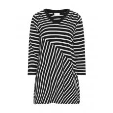 Shirt mit asymmetrischem Streifen-Design