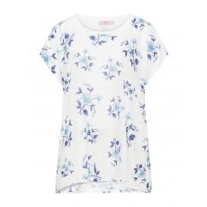 Shirt mit Blumen-Print und Stickerei