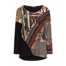 Shirt mit High-Low-Saum