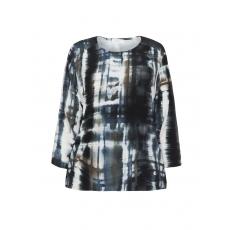 Shirt mit Print und elastischem Saum