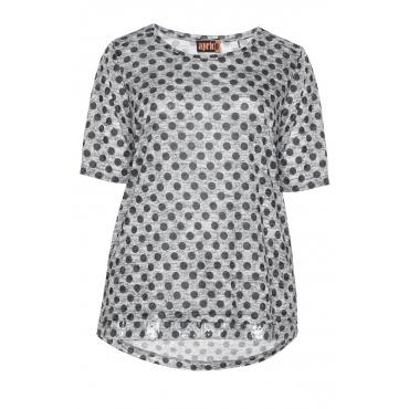 Shirt mit Punktemuster und Pailletten