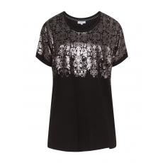 Shirt mit silbernem Barock-Print