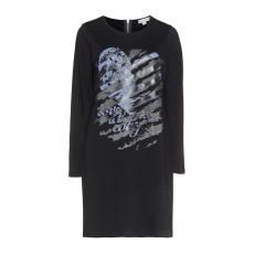 Shirtkleid mit Glitzer-Print