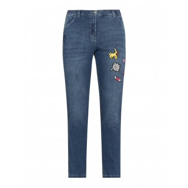 Skinny Fit Jeans Betty mit Patches