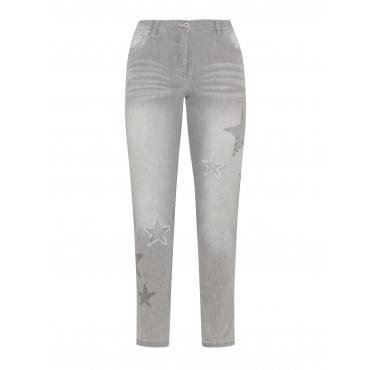 Skinny Fit Jeans Betty mit Sternmotiv