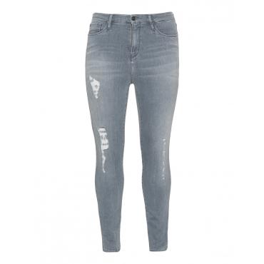 Skinny Fit Jeans im Used-Look