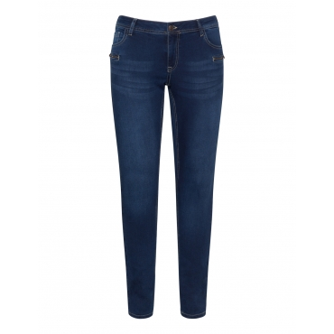 Skinny Jeans mit Reißverschluss-Details