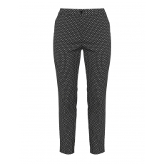 Slim Fit Hose mit Allover-Print