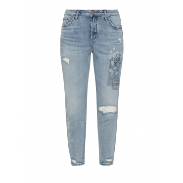 Slim Fit Jeans Aiko mit Stickerei