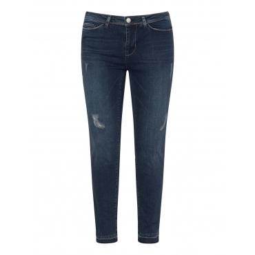 Slim Fit Jeans im Destroyed-Look