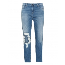 Slim Fit Jeans im Used-Look