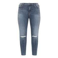 Slim Fit Jeans im Used-Look mit Cuts