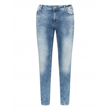 Slim Fit Jeans im Washed-out-Look