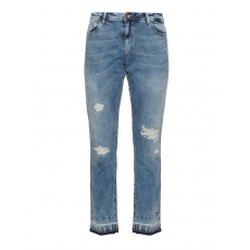 Slim Fit Jeans mit Destroyed-Effekt