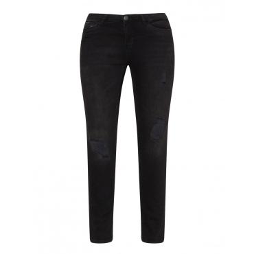 Slim Fit Jeans mit Destroyed-Effekten