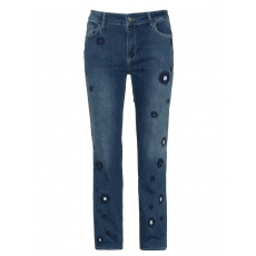Slim Fit Jeans mit Stickerei