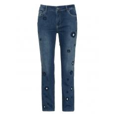 Slim Fit Jeans mit Stickerei