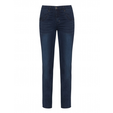 Slim Fit Jeans Monaco mit Stickerei