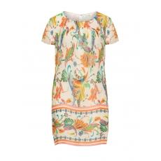 Sommerkleid mit Bordüren-Print