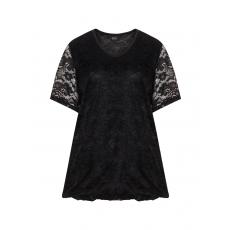 Spitzen-T-Shirt in O-Linie