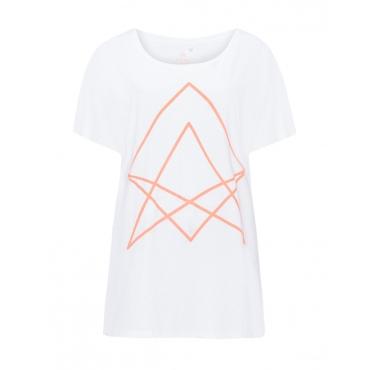Sport-Shirt mit Frontprint in Neonfarbe