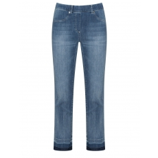 Straight Cut Jeans mit Fransensaum