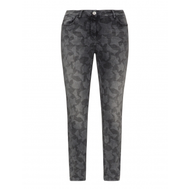 Straight Cut Jeans mit Sternenmotiv