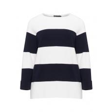 Streifen-Pullover aus Baumwollmix