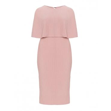 Strukturiertes Jersey-Kleid mit Overlay