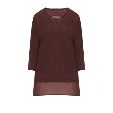 Strukturiertes Shirt mit Chiffon