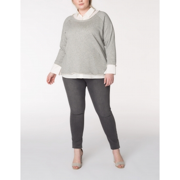 Sweatshirt in 2-in-1-Optik