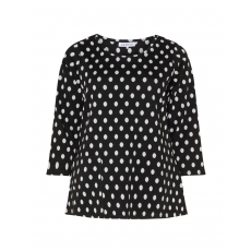 Sweatshirt mit Polka Dots und Tasche