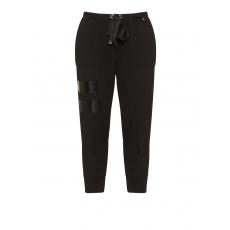 Sweatshirtstoff-Hose mit Metallic-Prints